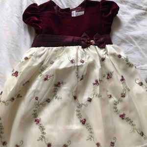 Girls 4T Red and White Youngland Formal Dress
